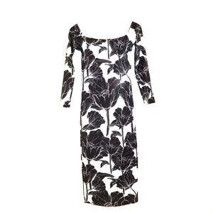 Rue 107 Off The Shoulder Orchid Midi Dress